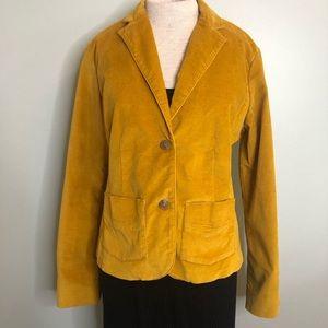 Eddie Bauer Golden Yellow Velour Blazer Size 10